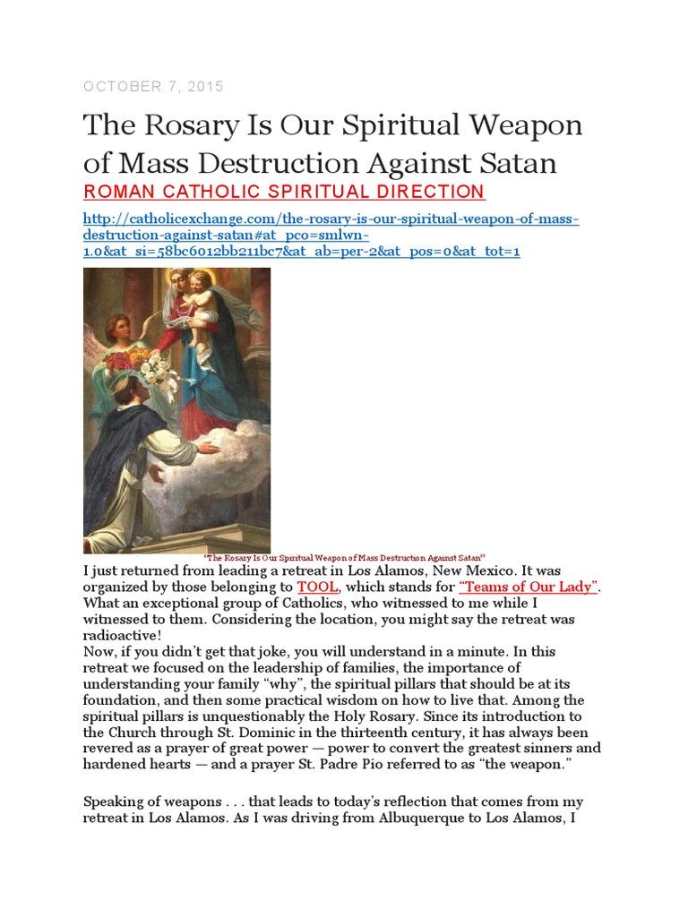 Rosary spiritual weapon