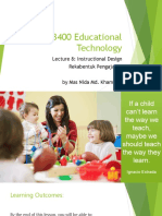 Lecture 8 Instructional Design