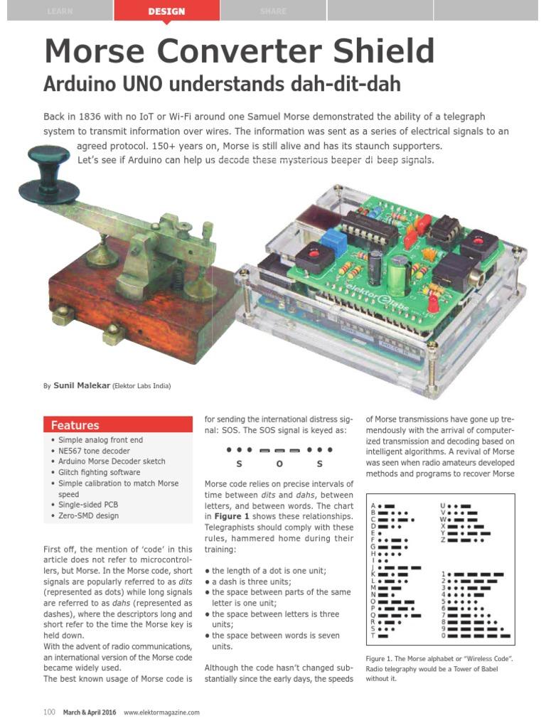Arduino Morse Decoder | Arduino | Amplifier
