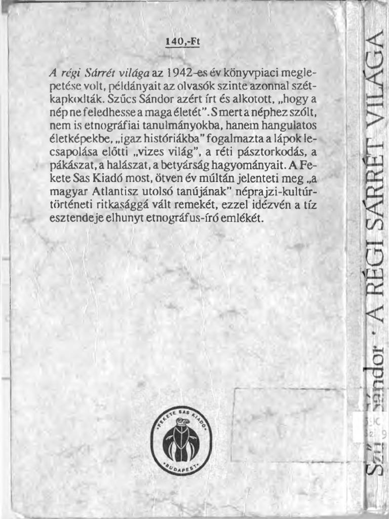 Szűcs Sándor a Régi Sárrét Világa 3a5880d70a