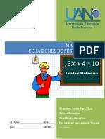 Unidad 4 Ecuaciones de Segundo Grado