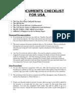USA Visa Docs Checklist