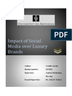 Impact of Social Media Over Luxury Brands