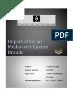 Impact of Social Media Over Luxury Brands