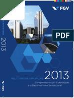2013 Relatorio de Atividades e Prestação de Contas FGV