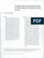 Astronomical Study of Greek Temples