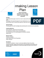 paper making lesson plan