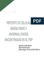 REPORTAR CELULAS SANGUINEAS