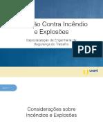 Aula 1 - Proteção Contra Incêndio e Explosões Unipê