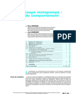 Pompe Ou Groupe Motopompe Vérification Du Comportement