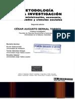 Metodologia de La Investigacion de Cesar Augusto Bernal Torres