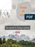 Thoughts on Giving...