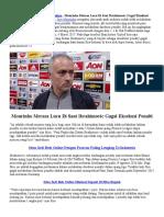 Mourinho Merasa Lucu Saat Ibrahimovic Gagal Eksekusi Penalti