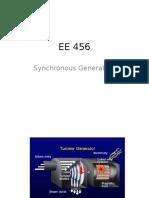 EE 456 Synchronous Generators