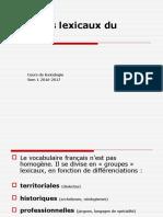 3_groupes Lexicaux Du Francais
