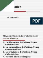 5 Derivation Suffixation