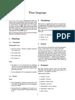 Thao Language