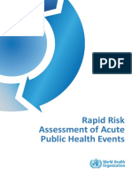 Rapid Risk Assessment of Acute Public Health Events - WHO