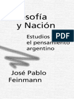 Filosofia y Nacion - Jose Pablo Feynmann
