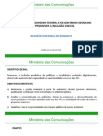 Apresentacao Da Secretaria de Inclusao Digital Lygia Pupatto Na Reuniao Nacional Do Conselho Nacional de Secretarios Estaduais Para Assuntos de Ciencia e Tecnologia Consecti Brasilia-DF – 24.05.2012