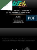 Ley de Caminos, Puentes y Autotransportes Federal