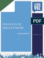 5 Jorge Petrone - Denuncia