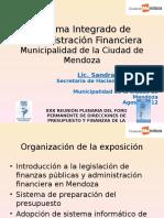 Sistema Integrado de Administracion Financiera Municipalidad de La Ciudad de Mendoza