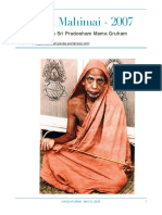 Periyava Mahimai Newsletters - 2007