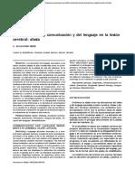 Alteraciones de La Comunicación y Del Lenguaje en La Lesión