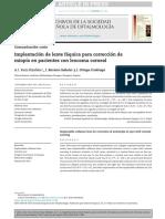 Implantación de Lentes Faquicos en Leucoma Corneal
