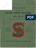 Singer 29-4 Instruction Manual
