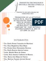 Presentacion de Proyecto de Geriatria