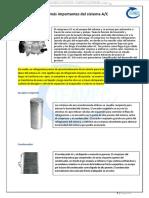Material Componentes Importantes Sistema Aire Acondicionado Ac Elementos Partes Compresor Condensador Motor