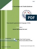 Descripción General Del Lenguaje VHDL