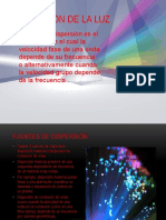 dispersion de la luz