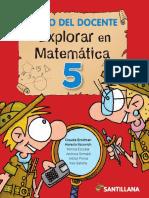 Docente Explorar en Matemática 5