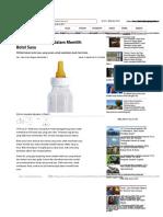 Tujuh Kriteria Tepat Dalam Memilih Botol Susu