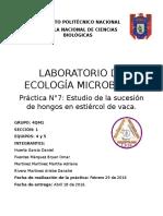 Pract. 7 Ecologia Microbiana