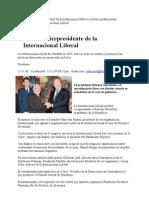 Micheletti Presidente de Internacional Liberal