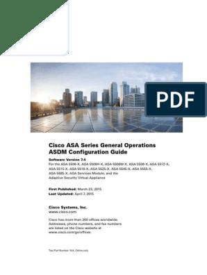 Cisco ASA ASDM Configuration | Firewall (Computing