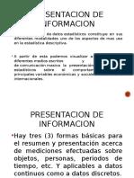 Presentacion de Informacion Estadistica
