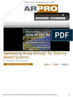 SolarPro_3.3_Optimizing Array Voltage for Battery-Based Systems
