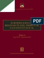 TC Descarga en PDF El Tomo VI de La «Jurisprudencia Relevante Del Tribunal Constitucional» Legis.pe
