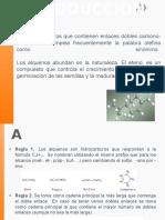 Exposicion de Quimica sobre los alquenos