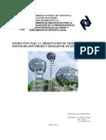Instructivo para la realización de tesis en la facultad de ingeniería de la UCV