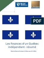 Finances d'un Québec indépendant