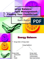 Energy Balance n Weight Management