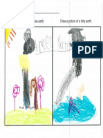 kindergarten student work clean earth vs  dirty earth pdf