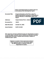 Program Evaluation of the Pine Lodge PreRelease Residential Therapeutic Community for Women Offenders in Washington State