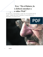 3. Entrevista a Umberto Eco